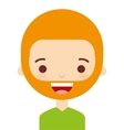 face man with a beard isolated icon design vector image vector image