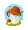 Fairy mushroom house vector image