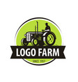 farm tractor logo agriculture farming vector image vector image