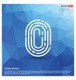 fingerprint app icon vector image