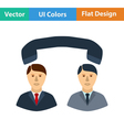 Flat design icon of Telephone conversation vector image vector image