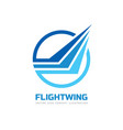 flight wing - business logo template vector image vector image