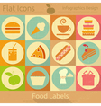 Food Labels in Retro Style vector image vector image