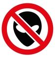 Forbidden Alien Flat Icon vector image vector image