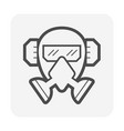 gas mask and goggle and earmuff or safety vector image