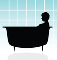 girl in bathtub vector image