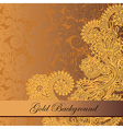 Gold floral background with place for your text vector image