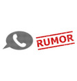 grunge rumor seal and halftone dotted phone vector image vector image