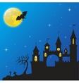 haloween castle vector image