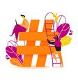 hashtag vector image