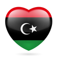 Heart icon of Libya vector image vector image