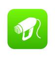 heat power tool icon green vector image vector image