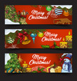 horizontal banners for 2018 new year and xmas vector image vector image