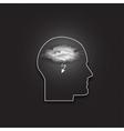icon of human head Idea in your mind Dark vector image vector image