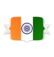 India Flag on Banner with Ribbon vector image vector image