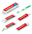 isometric paste or gel dentifrice used with a vector image vector image