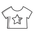 line baby t-shirt and textile clothes vector image vector image