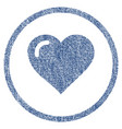 love heart rounded fabric textured icon vector image vector image
