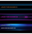Lower third banners vector image vector image