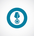 medal icon bold blue circle border vector image vector image