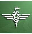 Military style eagle emblem vector image vector image