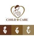 mother and child logo design vector image vector image