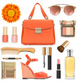 orange female accessories vector image vector image