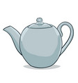 painted teapot vector image vector image