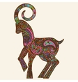 Patterned multicolored goat vector image