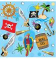 pirate background vector image vector image