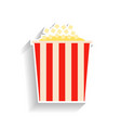 popcorn flat of food or snack vector image