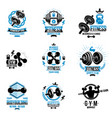 power lifting theme emblems and motivational vector image