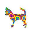 rainbow dog 9 vector image vector image