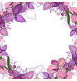 romantic frame with orchids blank square template vector image