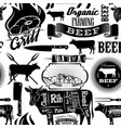 seamless background cow meat butcher shop vector image vector image