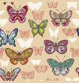 seamless pattern with colorful flying butterflies vector image vector image