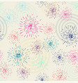 seamless pattern with fireworks vector image vector image