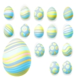 set easter eggs eps 10 vector image vector image