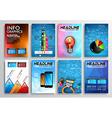set flyer design infographics brochure designs vector image vector image