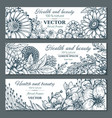 set of three horizontal banners with beautiful vector image vector image