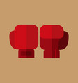 simple flat style boxing gloves sport graphic vector image vector image