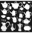 Sketches of tea and coffee objects vector image vector image