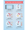 Smartphone and internet addiction infographics vector image vector image