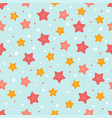 starfish cute summer pattern vector image