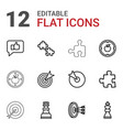 strategy icons vector image vector image