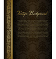 Stylish vintage background vector image vector image
