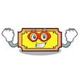 super hero ticket character cartoon style vector image vector image