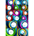 swirling spiral background set colorful stripes vector image