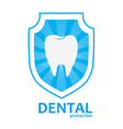 tooth protection logo vector image