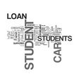 what you should know about student car loan text vector image vector image